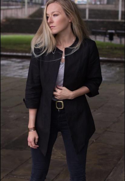 Emma Jacket in Black - Eco-friendly hemp - Ethically made in Canada