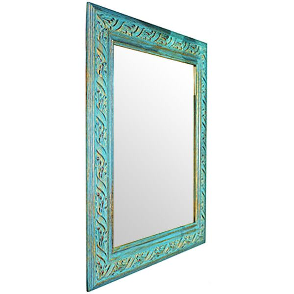 17 best images about my polyvore finds on pinterest home for Teal framed mirror