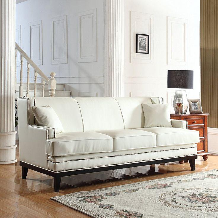 Modern Nailhead Sofa: Best 25+ White Leather Sofas Ideas On Pinterest