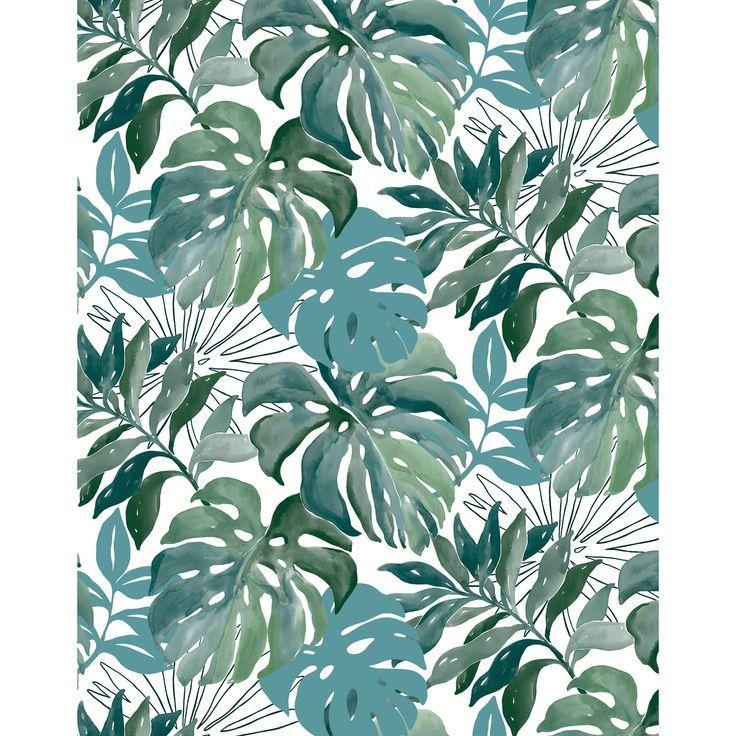 Papier Peint Intisse Jungle Vert Aquarelle Papierpeintchambre