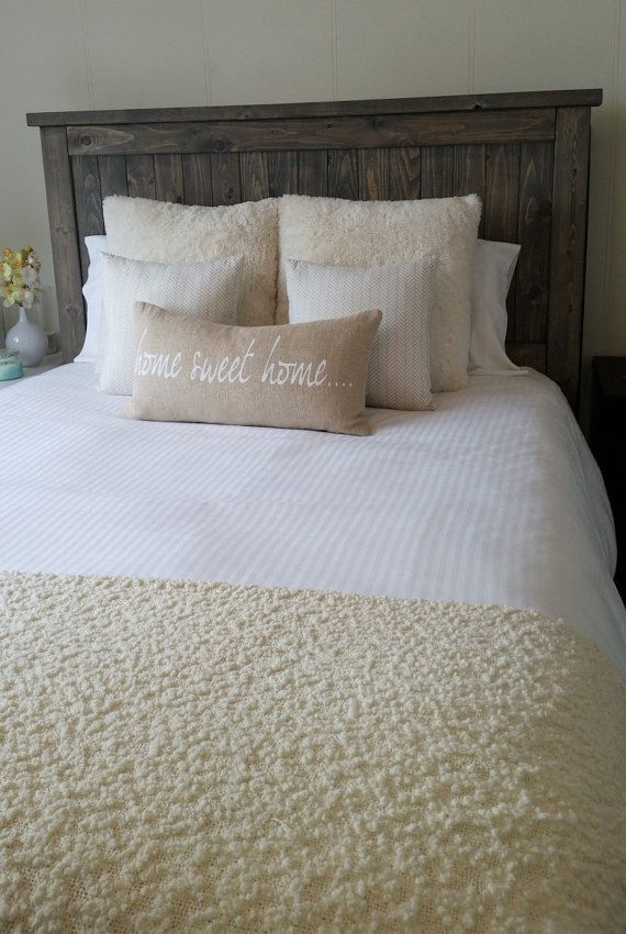 Rustic Headboard The Vaira by CraftedByConnor on Etsy