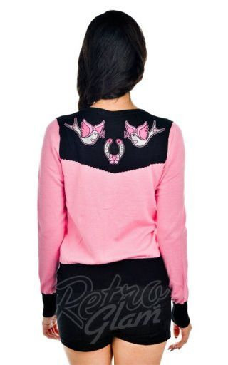 Banjo and Cake Horseshoes Embroidered Cardi