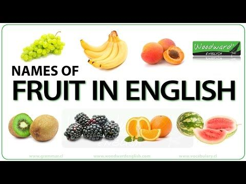 Fruit - English Vocabulary List and Fruit vs Fruits Grammar
