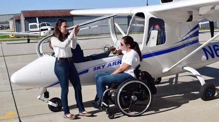 Listen A retired U.S. Army captain who was wounded in combat by an improvised explosive device is one of seven people at Purdue University working to show that their disabilities will not hold them back from taking to the skies. Students in this year's Able Flight program arrived on campus May 22 and got their first look at the Sky ...