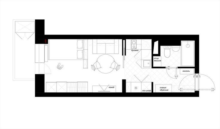 Квартира-студия 25 кв.м в Санкт-Петербурге