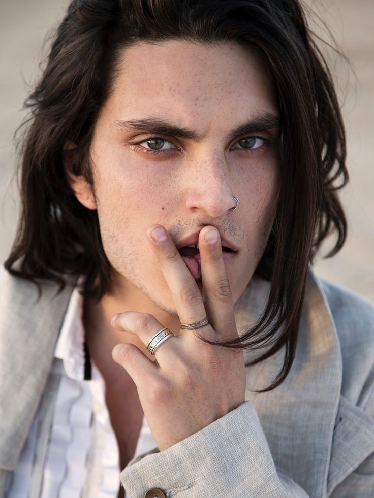 Samuel Larsen by Kira Bucca for Fashionisto (guys, long hair)