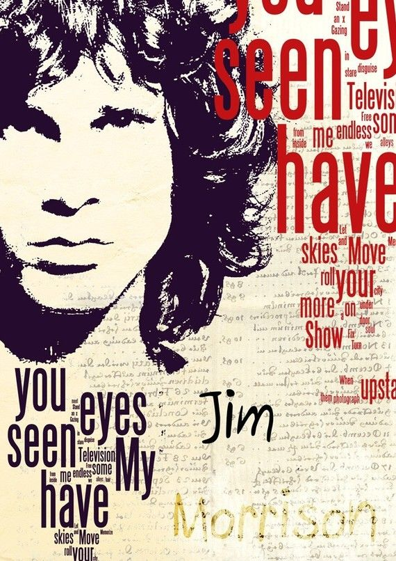 Print Jim Morrison The Doors music poster Birthday by Artistico