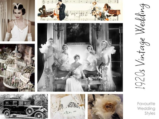 #weddingeducation 1920s Vintage Mood Board from WEI Director Kylie.See more on our blog www.thespecialeventexperts.com