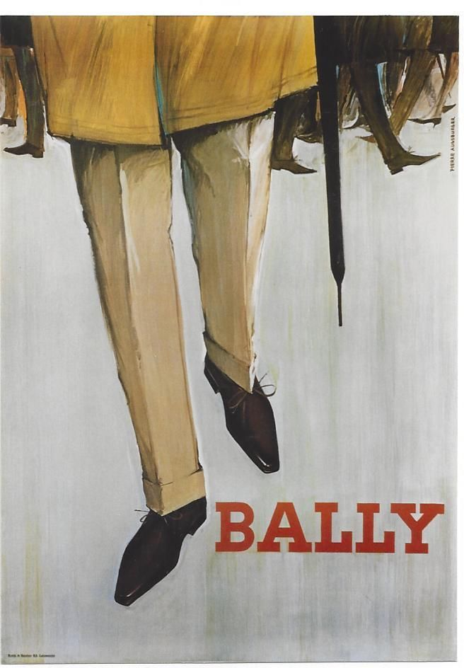 Original vintage poster BALLY MEN'S SHOE FASHION c.1960
