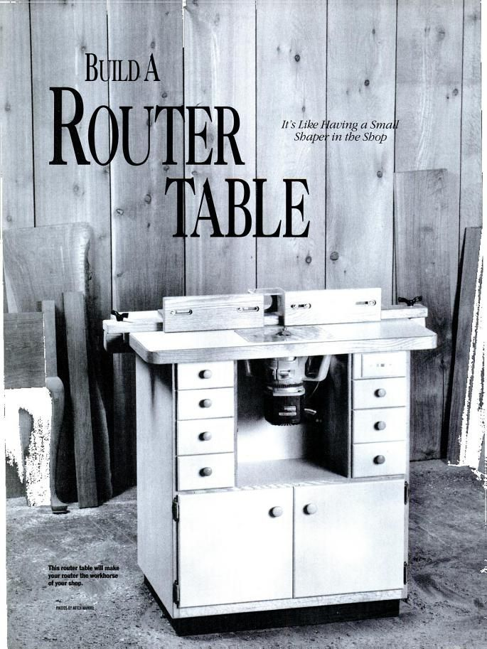 how to build a simple router table