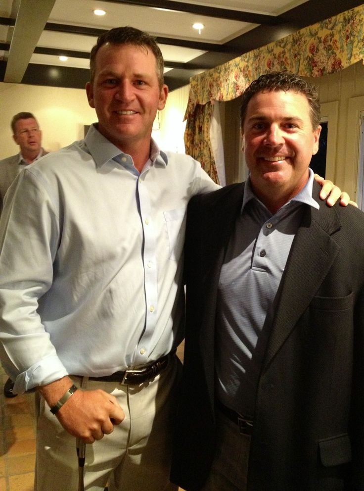 With my friend Jason Bohn PGA Tour player at Canadian Open setting up a fall tee time for Georgia at the Titleist event.