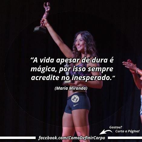 """""""A vida apesar de dura é mágica, por isso sempre acredite  no inesperado."""" (Maria Miranda)  Torne-se um Expert em Definição Muscular! Aprenda  definir o corpo de maneira saudável, passo a passo: https://SegredoDefinicaoMuscular.com/ ⬅ Clique #boanoite #goodnight #motivação #motivate #motivation #comodefinircorpo"""