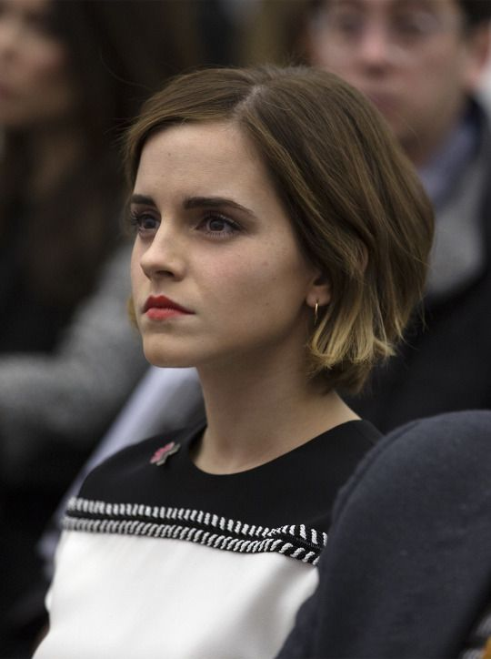 Emma Watson at the World Economic Forum in Davos on January 22, 2016