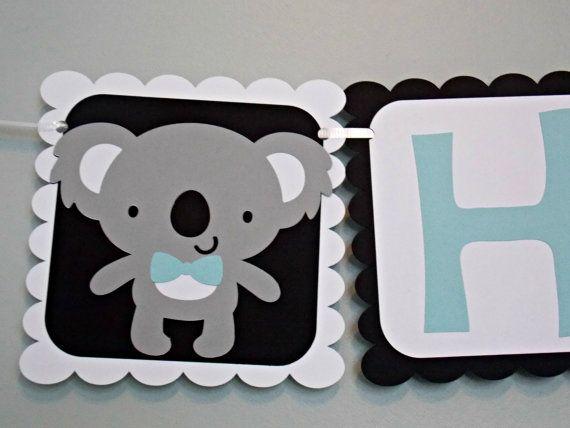Check out this item in my Etsy shop https://www.etsy.com/ca/listing/254637044/koala-happy-1st-birthday-banner-custom
