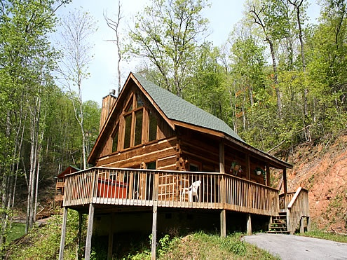 Sleeping beauty 1 bedroom 2 bathroom cabin rental in - 4 bedroom cabins in gatlinburg tn ...