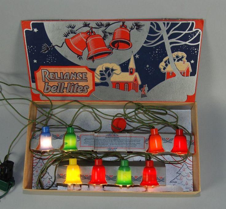 box set of bell lites c6 plasticl lights all working antique christmaschristmas - Antique Christmas Lights