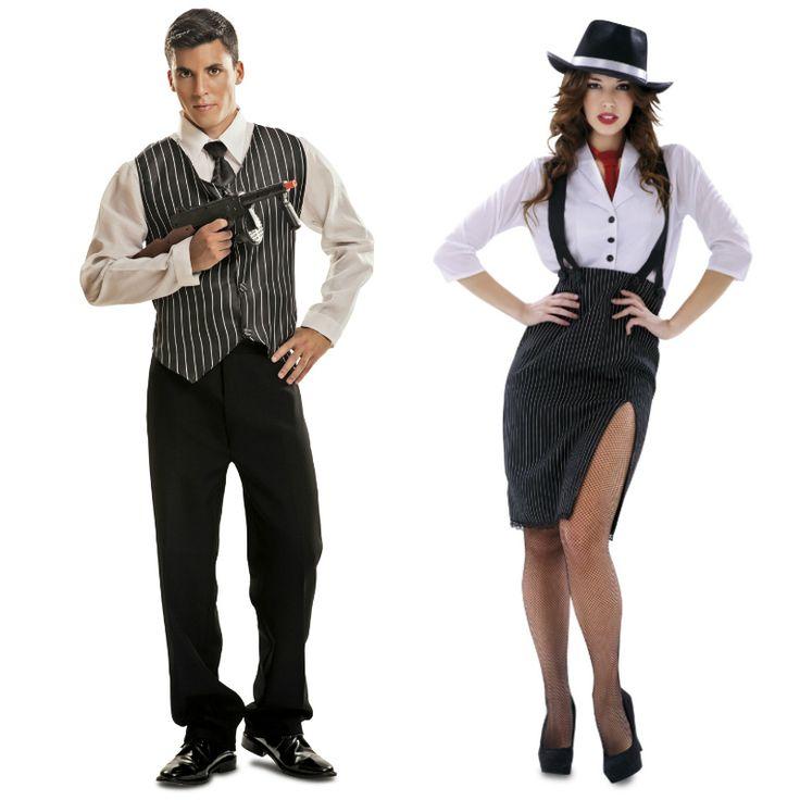 Pareja Disfraces de Gánsters #parejas #disfraces #carnaval