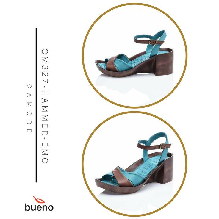 Mavi ile kahvenin benzersiz uyumu...  Kombinlerinizi bu sandalete göre yapacaksınız.. :)  CM327-HAMMER-EMO: https://www.buenoshoes.com.tr/mavi-kahve-dolgu-topuk-deri-bayan-sandalet