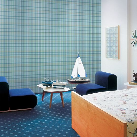 WallCandy Arts Plaid Self-Adhesive Wallpaper - If only everything in life  were removable and re-stickable, right? At least this awesome wallpaper is:  Take a ... - 123 Best Removable WallPaper Images On Pinterest Kids Wallpaper