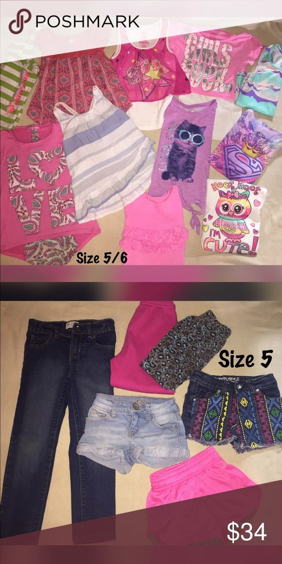 Girls bundle - size 5/6 Pet free / smoke free home All items are like new   Selling as lot (17 pieces) ✔️Abercrombie (shirt)  ✔️Children's Place (super skinny jeans) ✔️Justice (jean shorts) And more Other