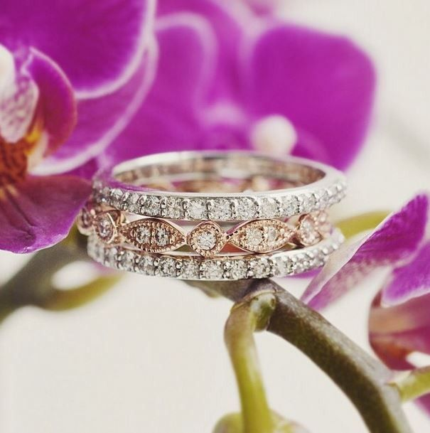 #weddingrings #engagementrings These glamorous diamond wedding rings are stunning.