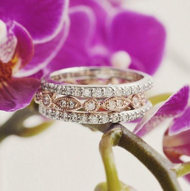 #weddingrings #engagementrings These glamorous diamond wedding rings are stunning.