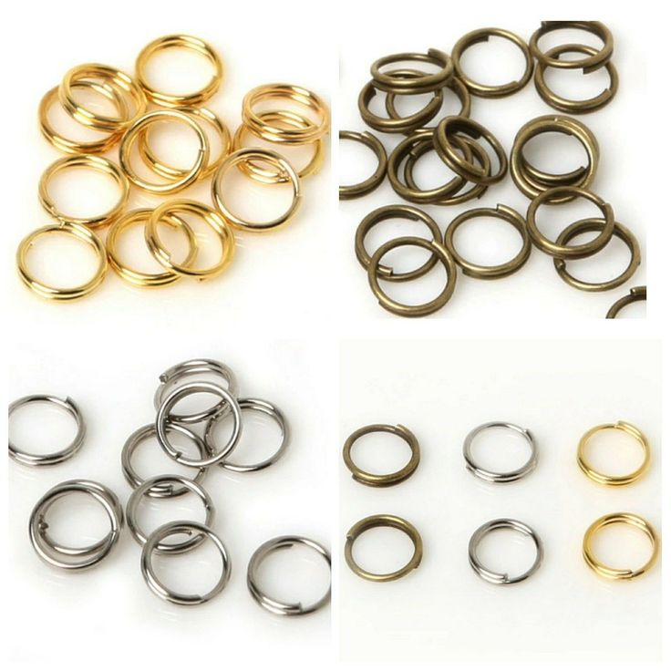 6mm split rings in bronze, silver and gold plated now in stock in my #etsy shop. Please take a look. Thanks Fiona #jewellerymaking #findings