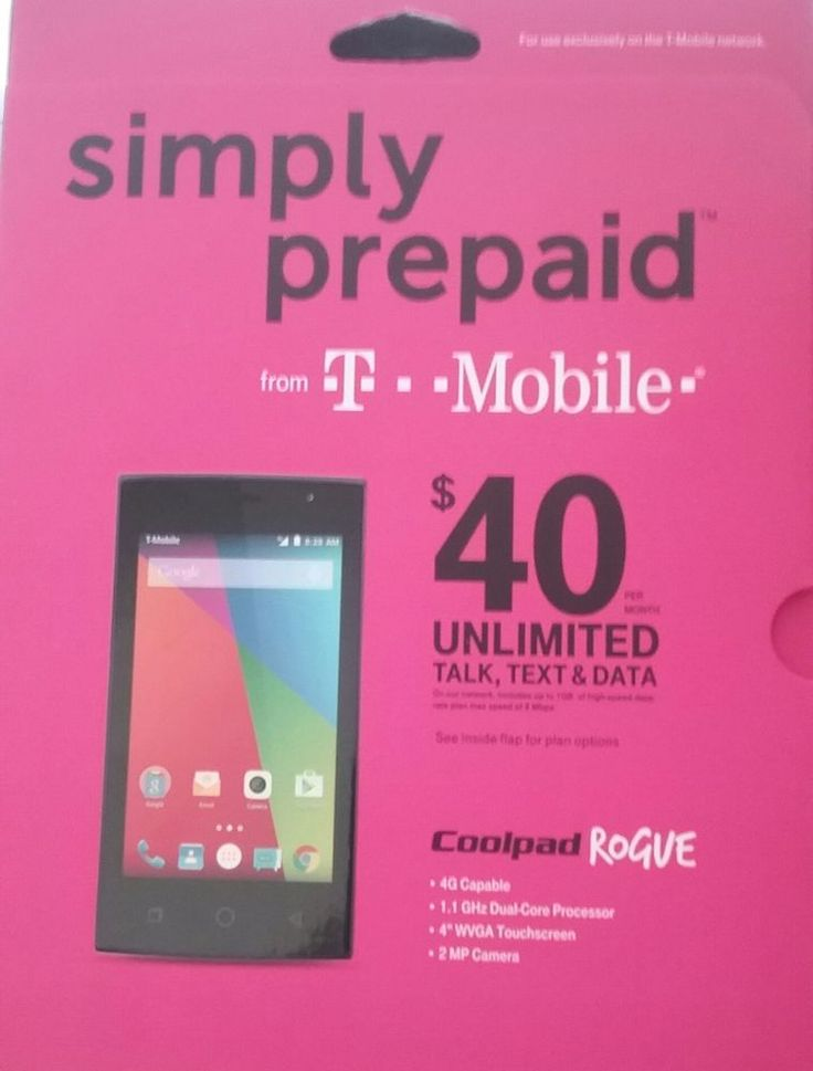 Cell - T-Mobile Coolpad Rogue - No Contract Cell Phone 4G Android Free Shipping! #Coolpad #Bar