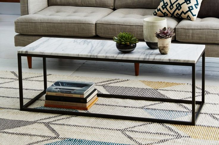 Box Frame Rectangular Coffee Table - Accent Tables - West Elm Workspace