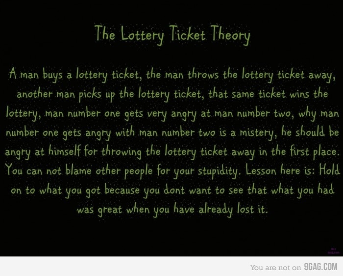 The Lottery Ticket TheoryTheory Rolig, Ticket Theory, Lottery Ticket, Neato