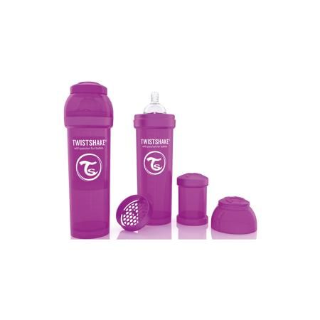 Twistshake Антиколиковая бутылочка 330 мл., Twistshake, фиолетовый  — 899р.  Антиколиковая бутылочка 330 мл., фиолетовый от шведского бренда Twistshake (Твистшейк), придет по вкусу малышам и современным родителям. Эти бутылочки идут в комплекте с контейнером для сухой смеси, чтобы можно было готовить смесь в любом месте непосредсвенно перед кормлением. Также в комплект входит решеточка для разбивки комочков смеси, делая саму смесь идеальной. Материал бутылочки имеет свойства сохранения…