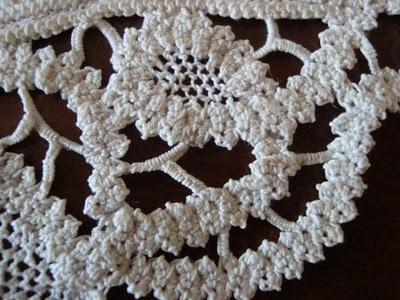 İngiliz Danteli /Dantel Anglez (Romanian Point Lace) using a wider flatter crocheted cord