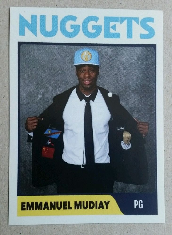 Emmanuel Mudiay Denver Nuggets Custom Rookie rc 2015 NBA Draft pick sp