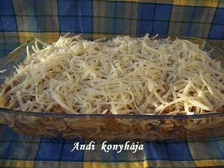Rakott bolognai spagetti