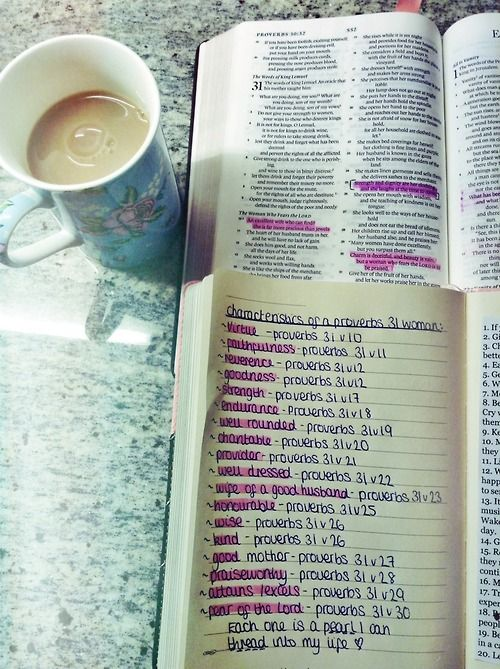 Studying the characteristics of a Proverbs 31 woman... one of my favorite chapters in the bible <3
