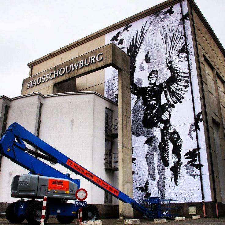 WK Interact Belgium mural
