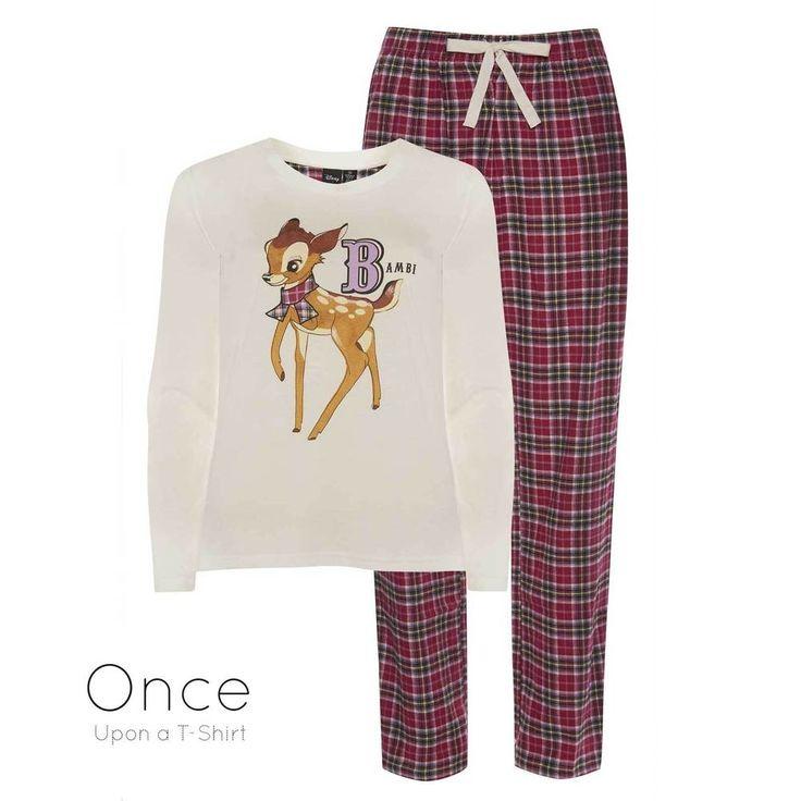 PRIMARK Ladies DISNEY BAMBI Long Sleeve Pyjamas PJ SET