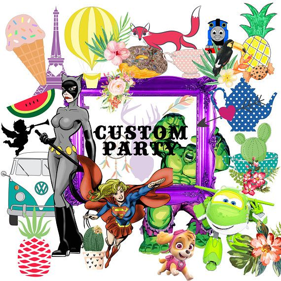 Custom Party Pack Customized party printables choose any