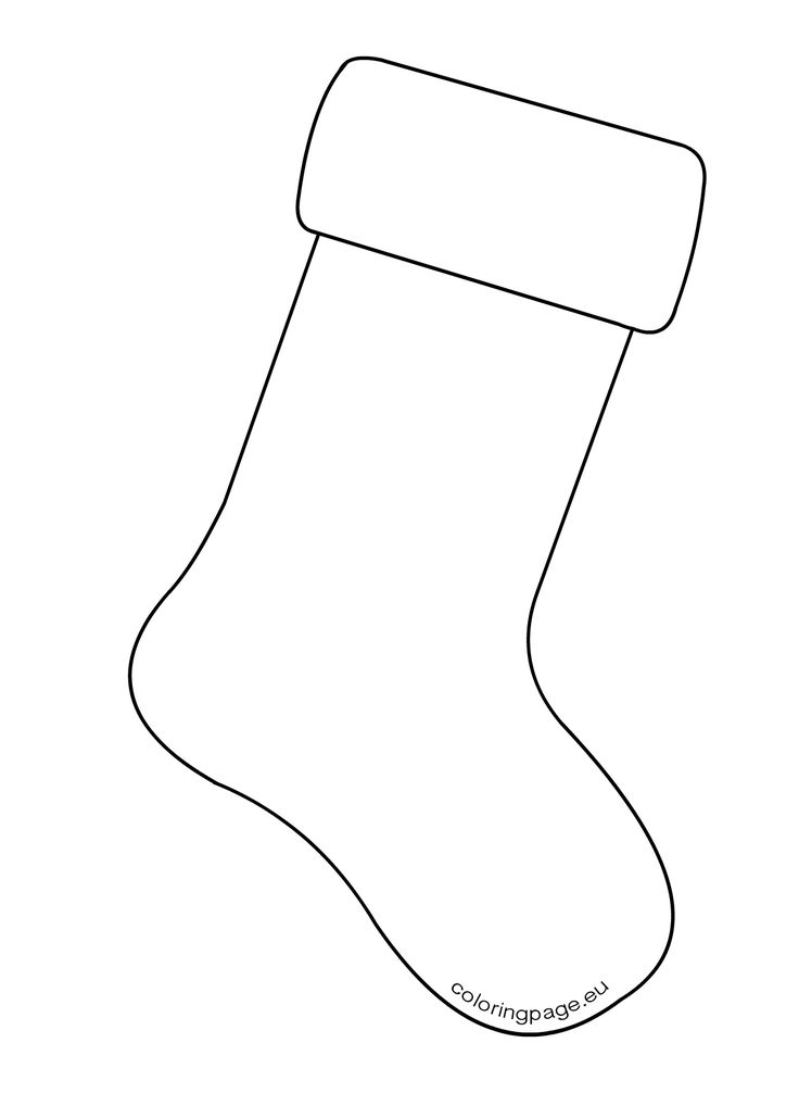 Punchy image throughout christmas stocking template printable