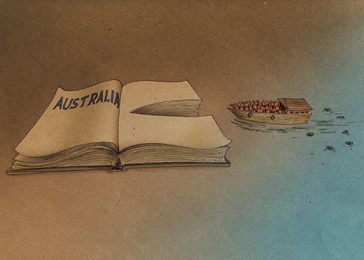 Hesam Fetrati - Australia book (ink and digital art)
