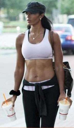 Pilar Sanders I Want Those Abs And The Jamba Juice Fit