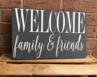 8 best Welcome signs images on Pinterest | Wood signs, Wooden signs ...