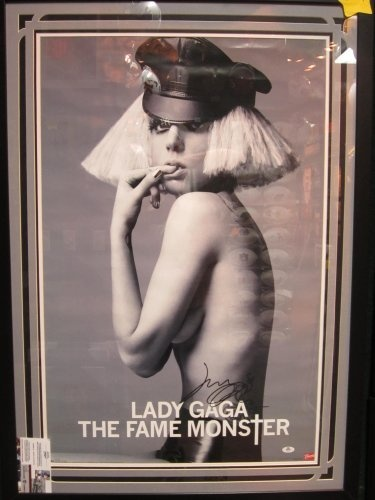 Lady Gaga the Fame Monster Signed Autographed Poster Framed & Matted Authentic Certified Coa Rare