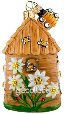Edelweiss Beeskep Patricia Breen Designs (Bees, Brown, Bugs, Enamel, Flowers, Green, Pearl/white, Yellow)
