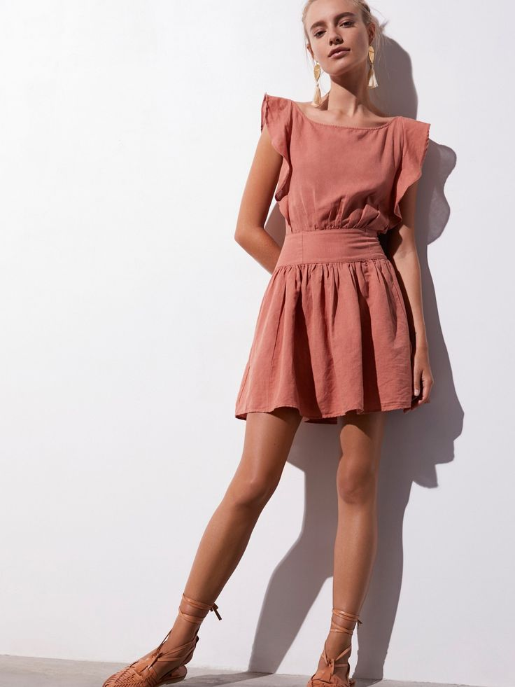 Endless Summer Bronze Erin Mini Dress at Free People Clothing Boutique