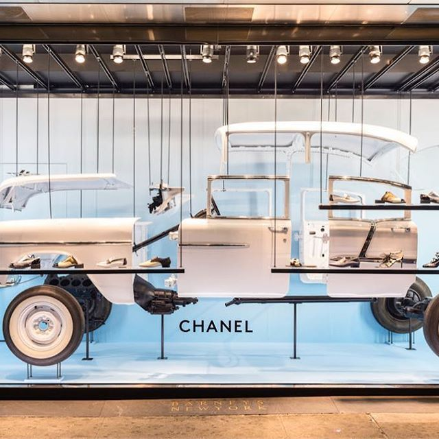 """BARNEY'S, Downtown Chelsea, New York, """"The Chanel Cuba cruise shoe collection and Havana-inspired windows"""", close-up, pinned by Ton van der Veer"""