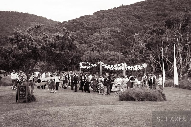 ceremony setting. mexican flags. blackboard signage. Styled by St. Hakea sthakea.com