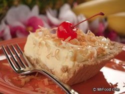 "Hawaiian Pudding Pie, using skim milk, sugar-free pudding, sugar-free or fat free whipped topping and a reduced calorie crust would make this pretty ""light"""