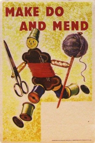 5b83ae281b93 Make Do and Mend - vintage sign Craft evenings