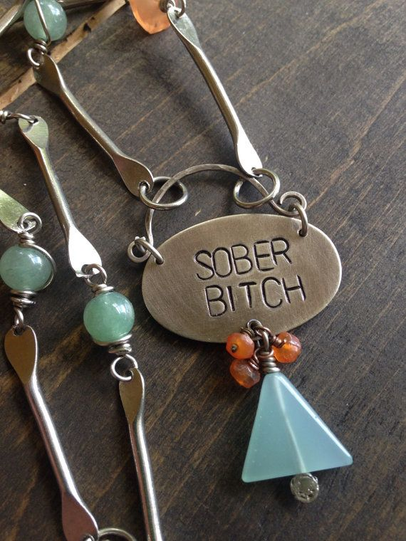 Alcoholics Anonymous Womens Sobriety Necklace by ferdandbird